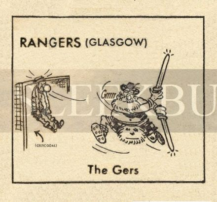 VINTAGE Football Print RANGERS (GLASGOW) - THE GERS, Funny Cartoon